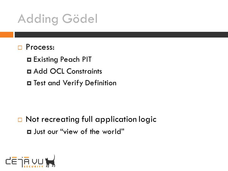 Adding Gödel Process: Not recreating full application logic