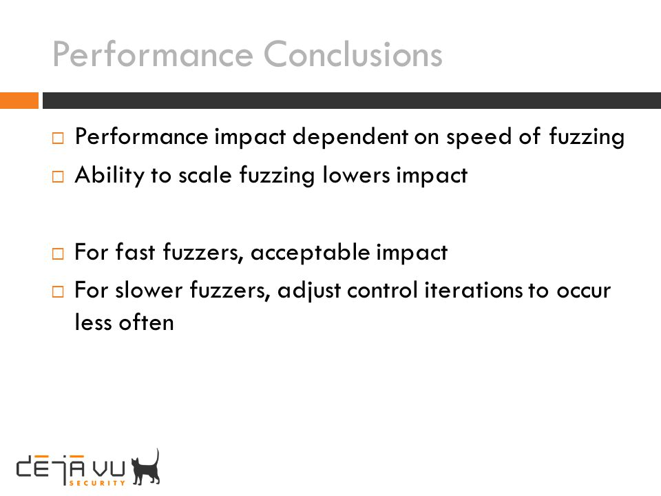 Performance Conclusions