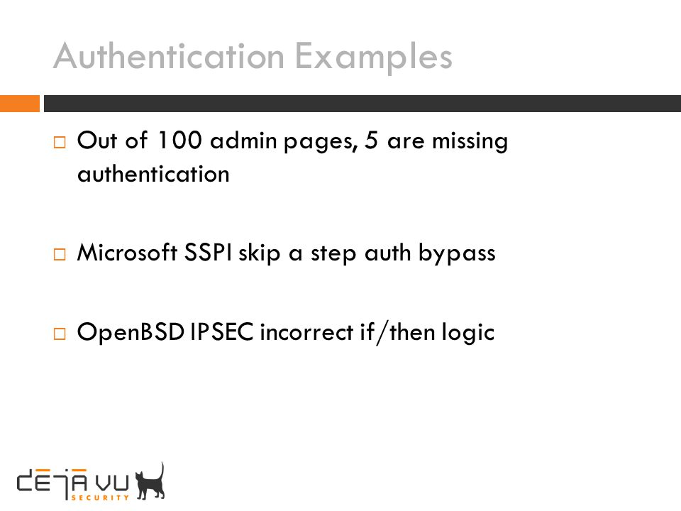 Authentication Examples
