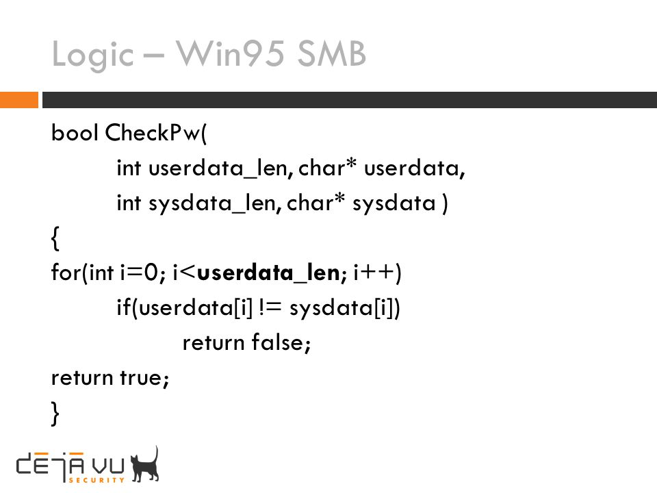 Logic – Win95 SMB