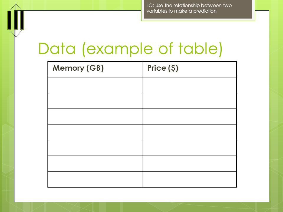 Data (example of table)