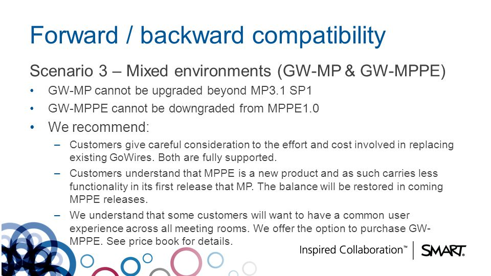 Forward / backward compatibility