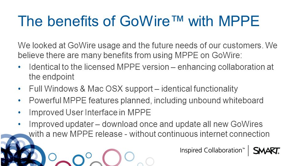 The benefits of GoWire™ with MPPE