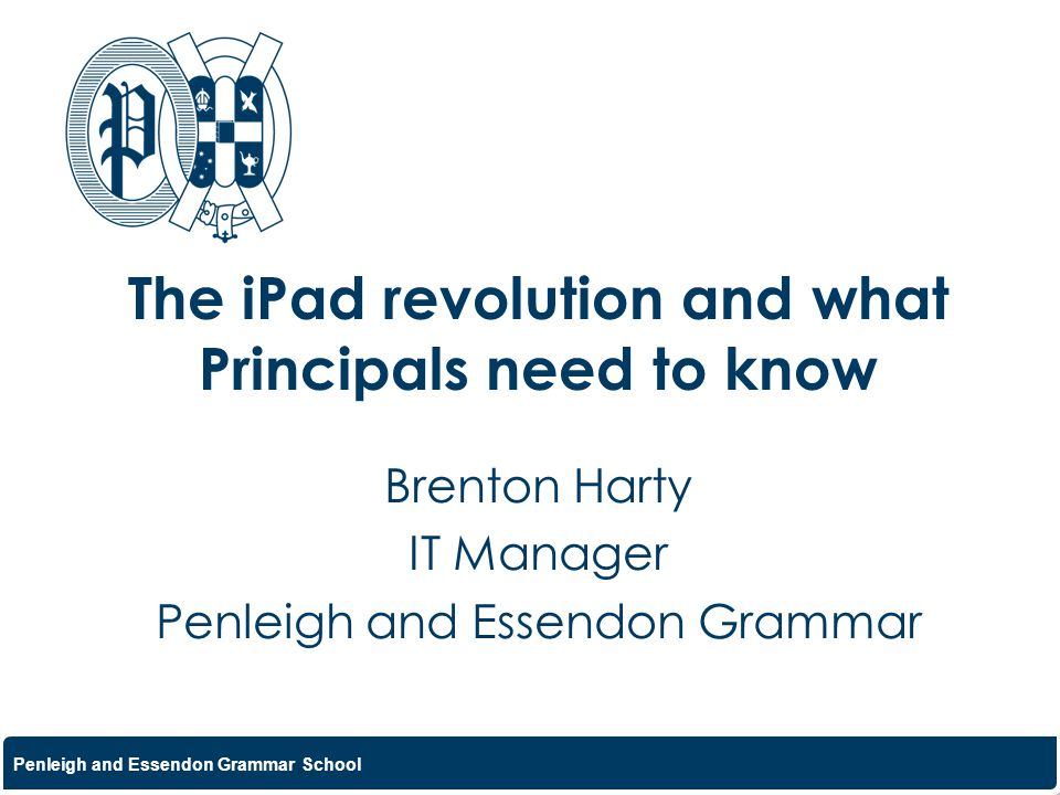 The iPad revolution and what Principals need to know