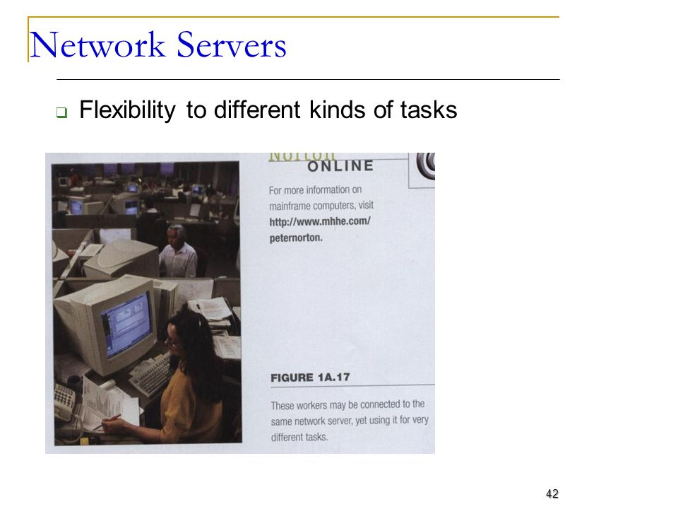 Network Servers Flexibility to different kinds of tasks