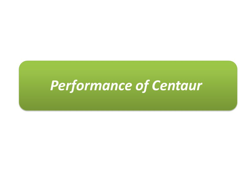 Performance of Centaur