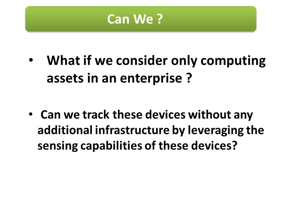 What if we consider only computing assets in an enterprise