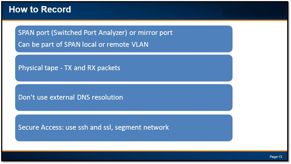 How to Record SPAN port (Switched Port Analyzer) or mirror port