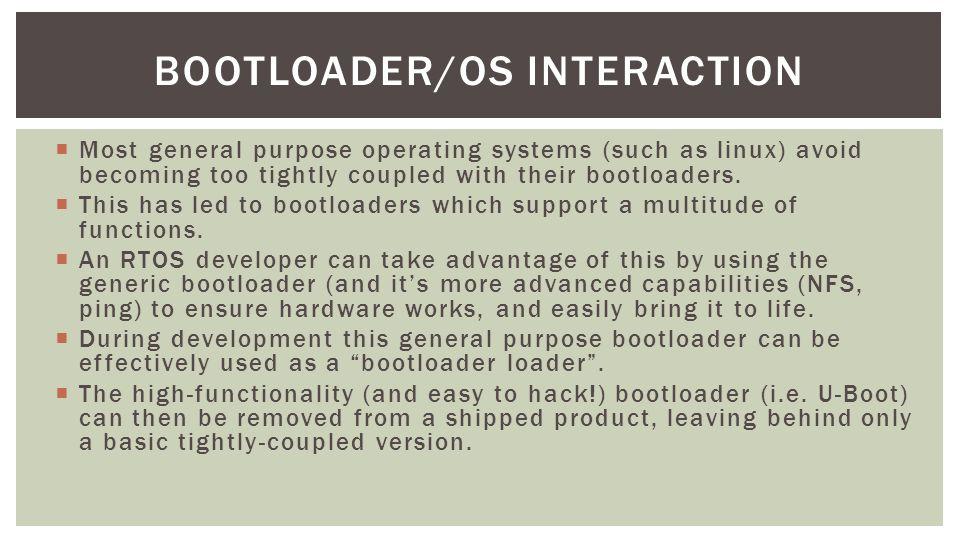 Bootloader/OS Interaction