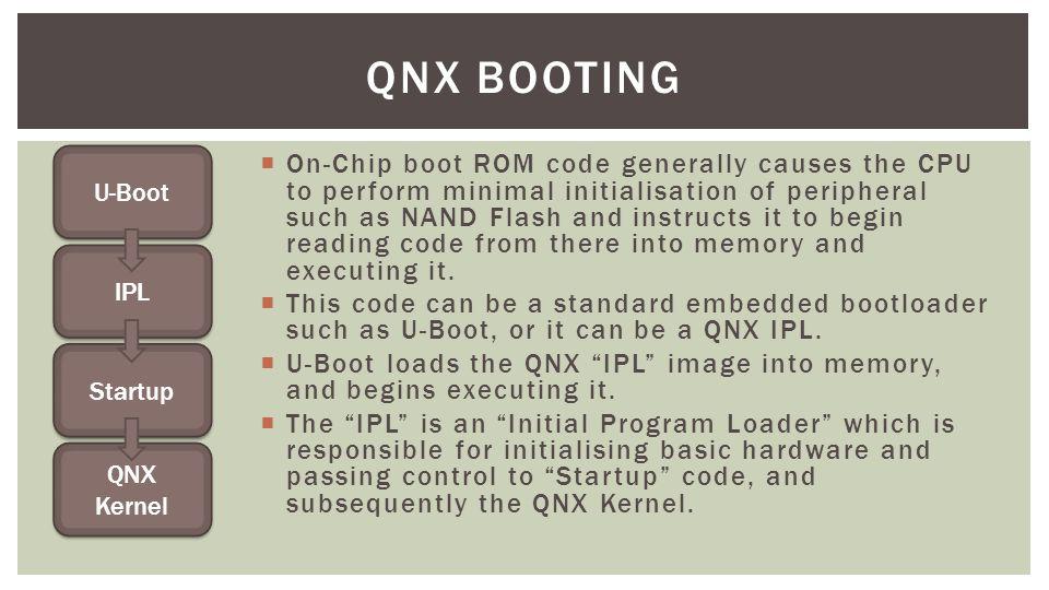 QNX Booting U-Boot.