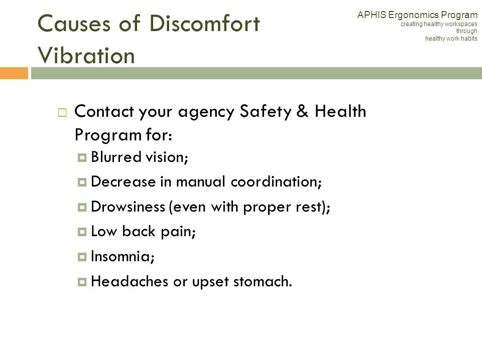 Causes of Discomfort Vibration
