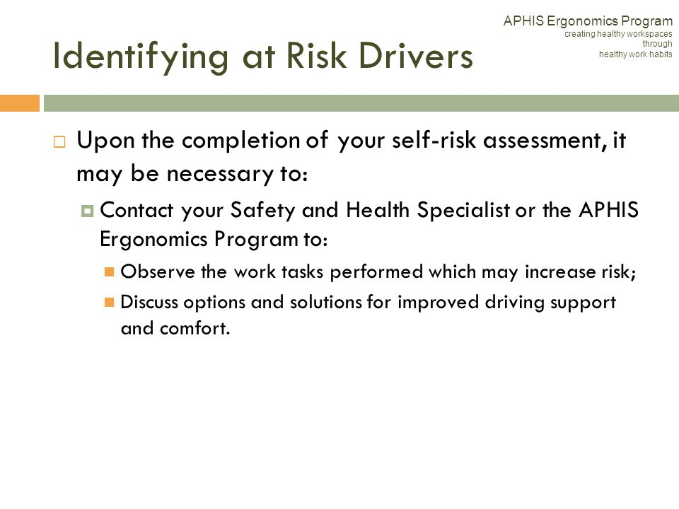 Identifying at Risk Drivers