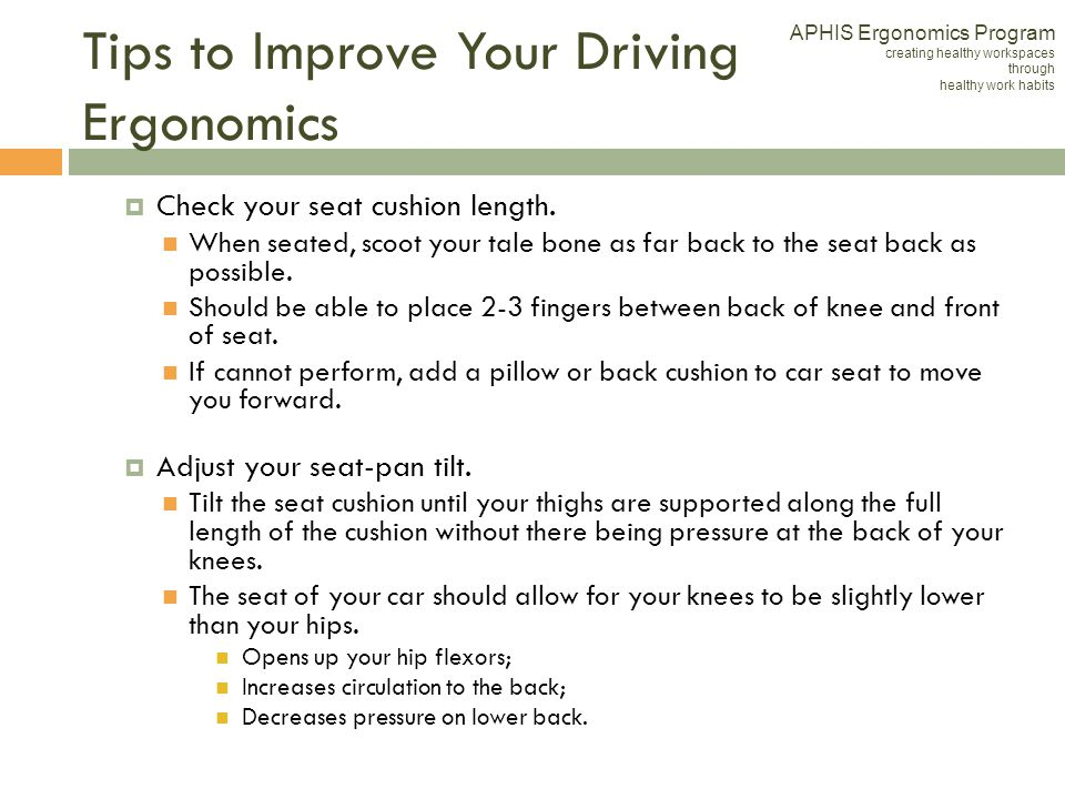 Tips to Improve Your Driving Ergonomics