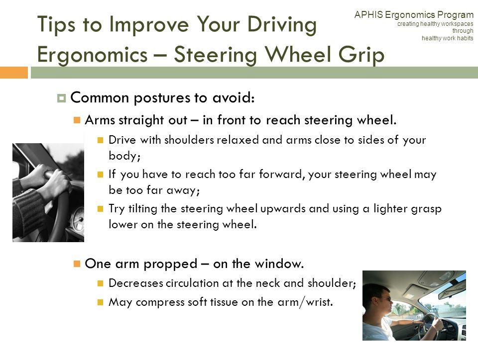 Tips to Improve Your Driving Ergonomics – Steering Wheel Grip