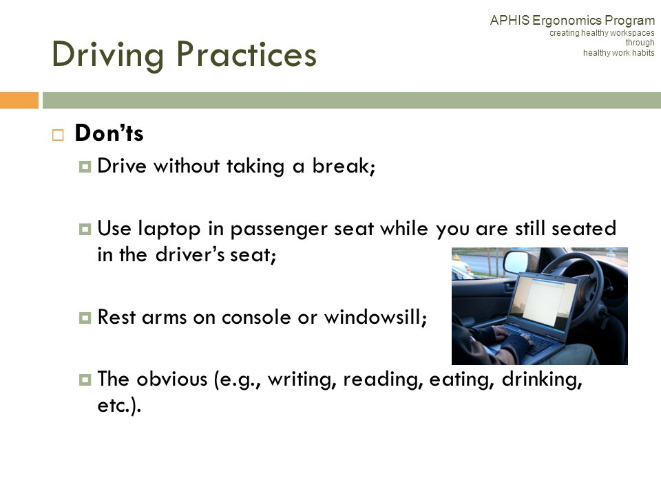 Eating drinking while driving essay
