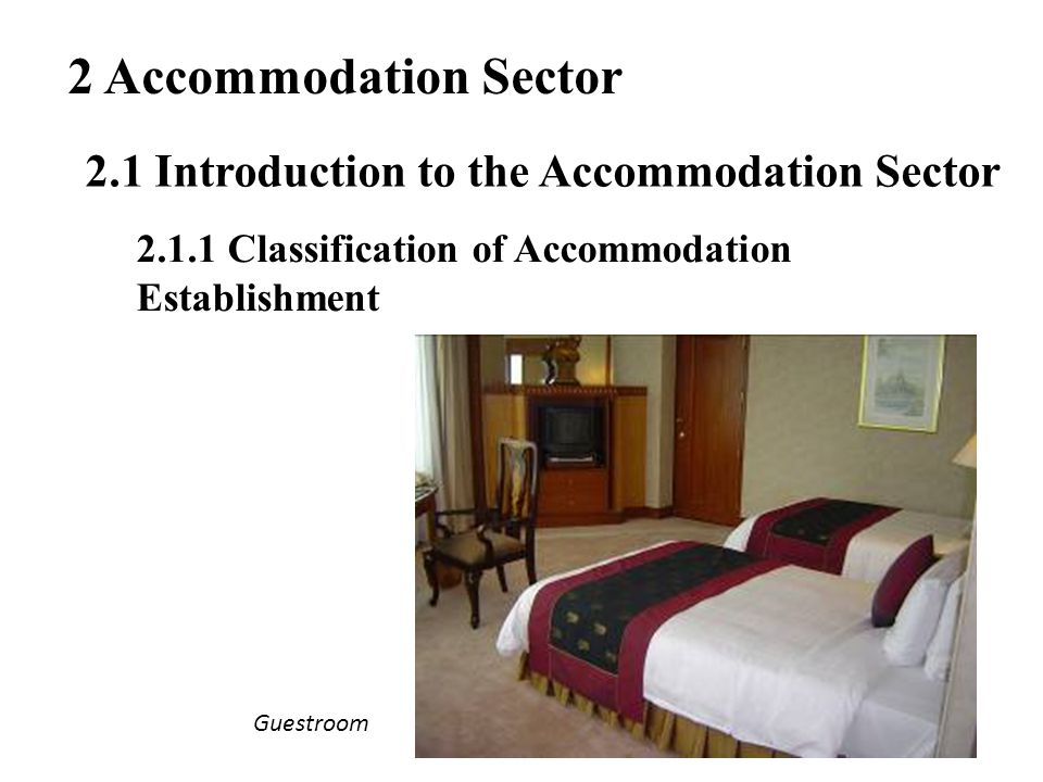 2 Accommodation Sector 2.1 Introduction to the Accommodation Sector