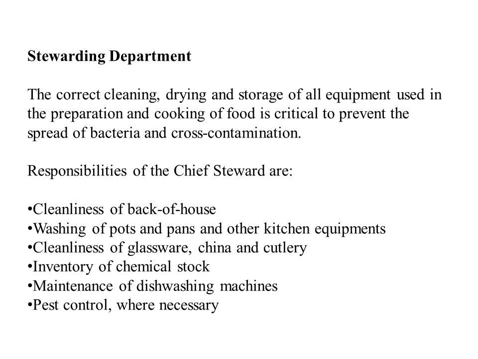 Stewarding Department