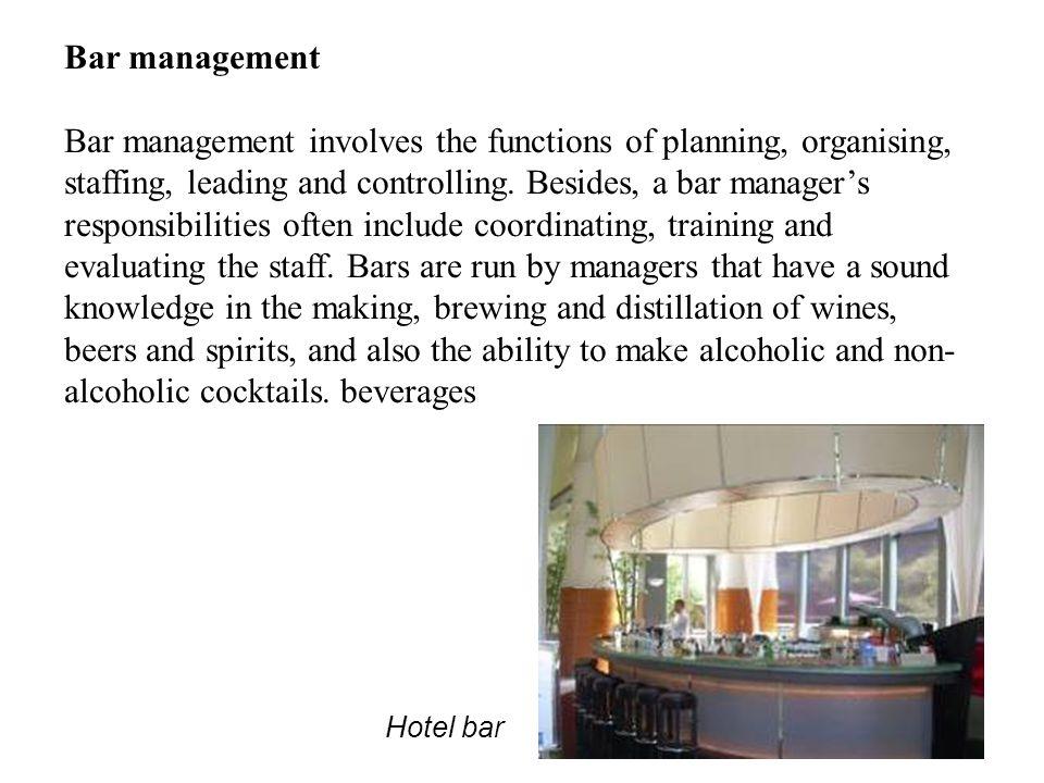 Bar management