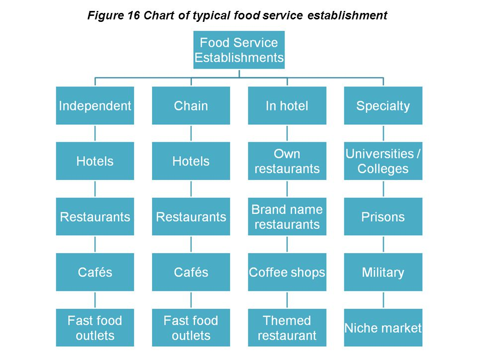Figure 16 Chart of typical food service establishment