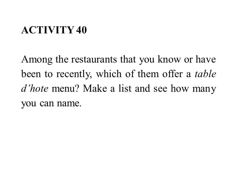 ACTIVITY 40