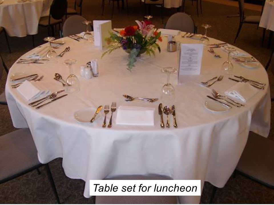 Table set for luncheon