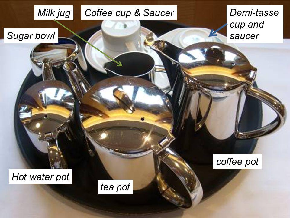 Milk jug Coffee cup & Saucer Demi-tasse cup and saucer Sugar bowl coffee pot Hot water pot tea pot