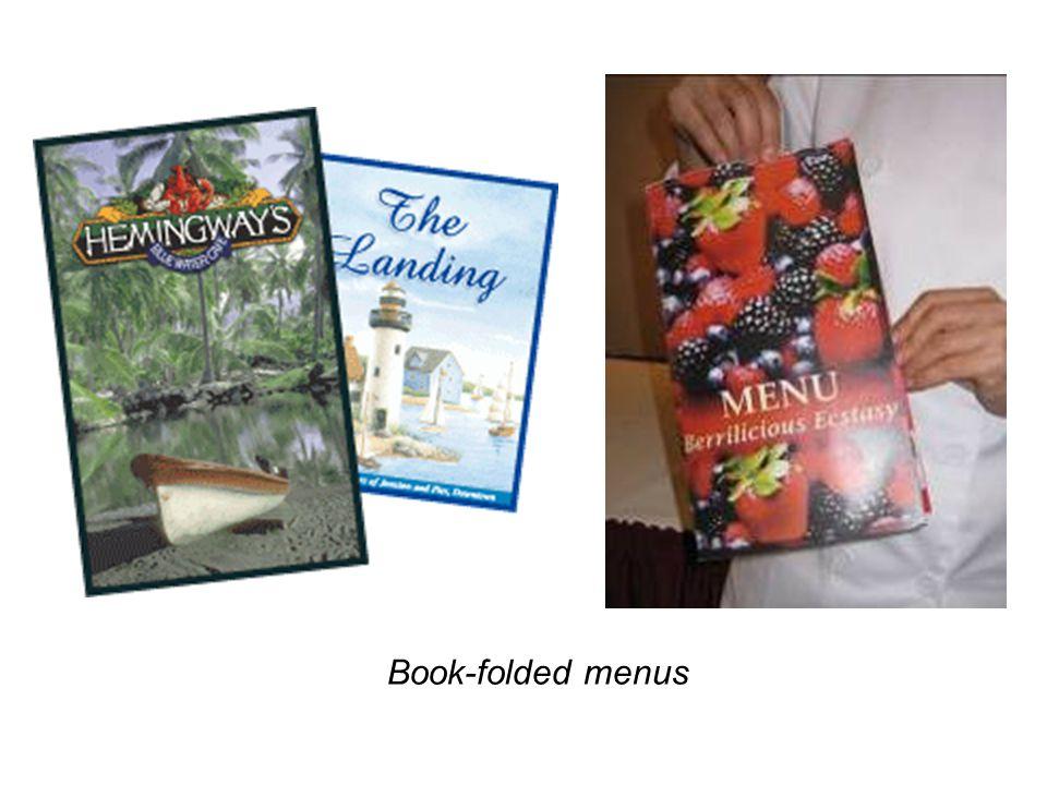 Book-folded menus