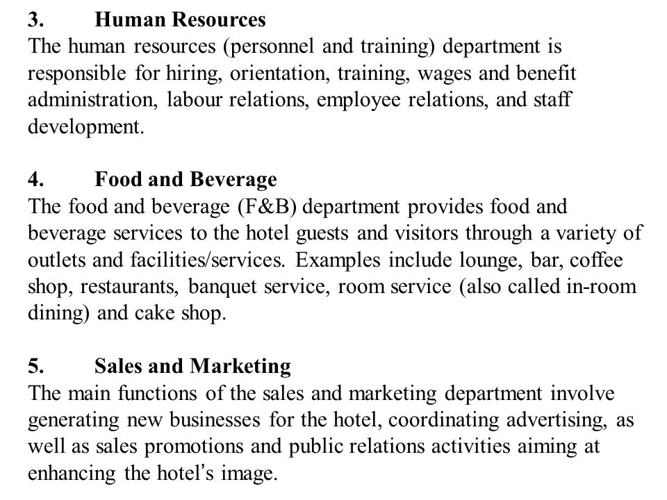 3. Human Resources