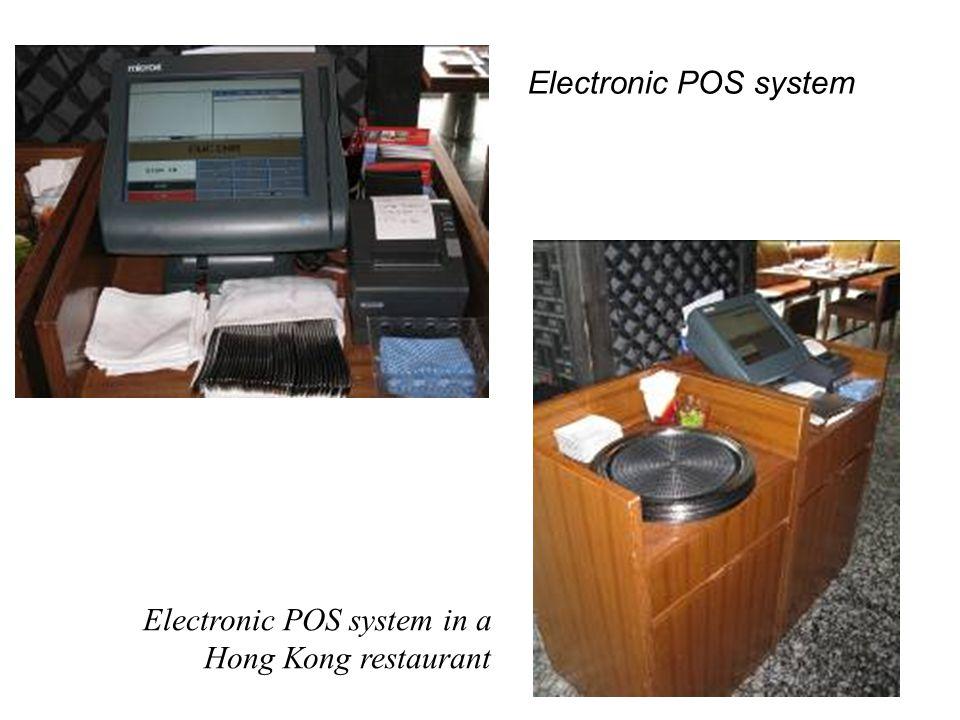 Electronic POS system Electronic POS system in a Hong Kong restaurant