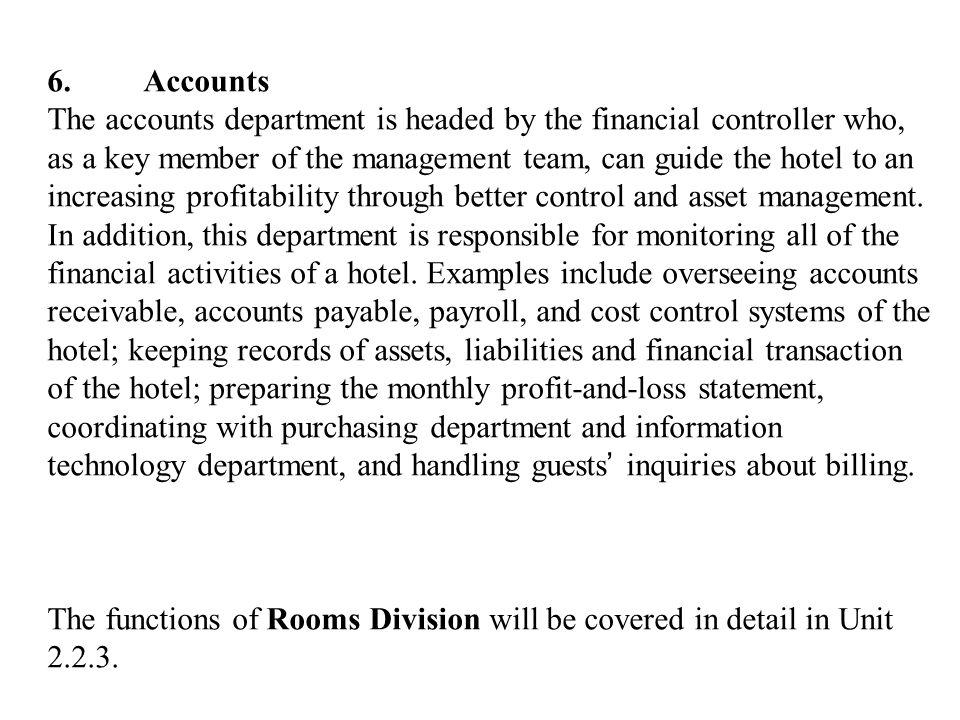 6. Accounts