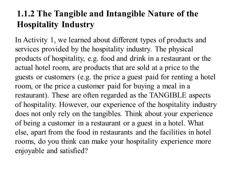 "intangible and tangible service in fast food industry Tangible and intangible assets jennifer geolfos july 19, 2012 acc291 mary larsen tangible and intangible assets tangible and intangible assets include everything listed under total assets on the balance sheet ""assets consist of resources a business owns,"" (kimmel, weygandt, &amp kieso, 2010, p 12."