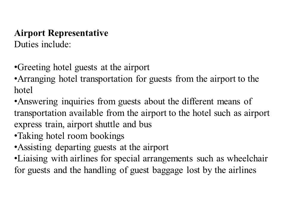 Airport Representative