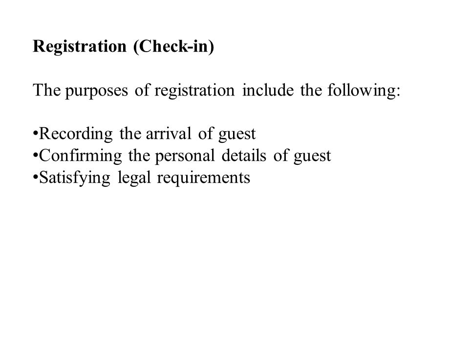 Registration (Check-in)