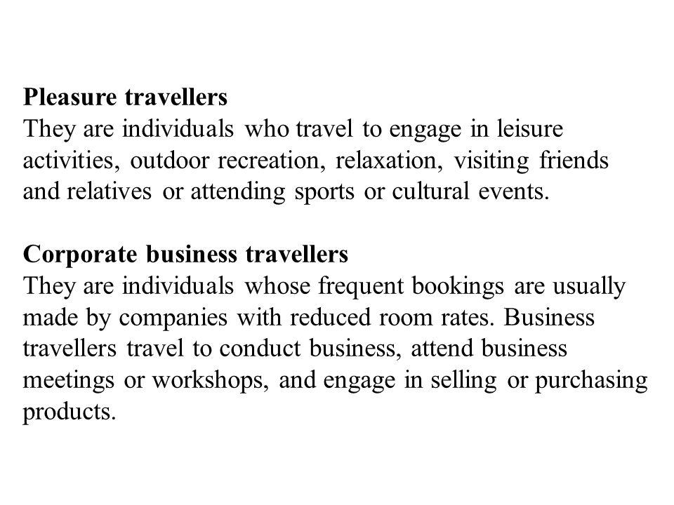 Pleasure travellers