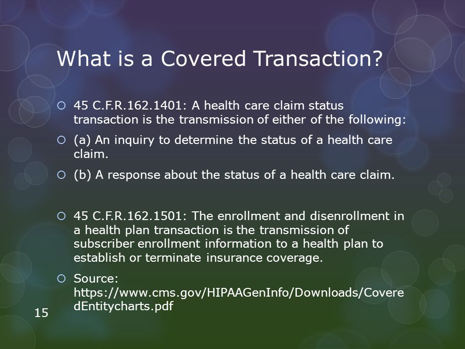 What is a Covered Transaction