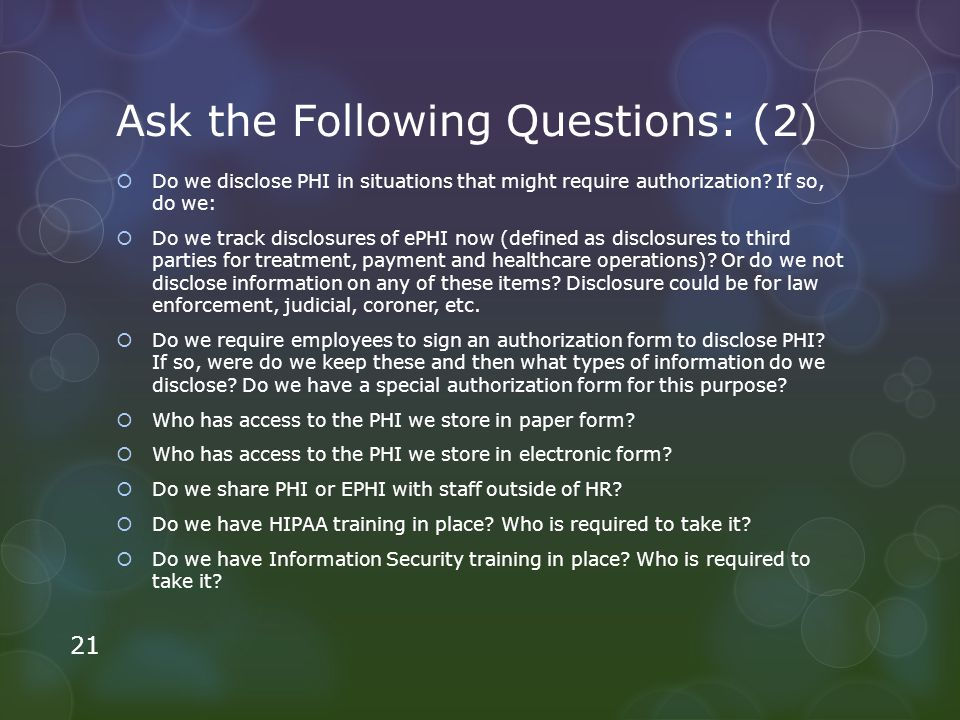 Ask the Following Questions: (2)