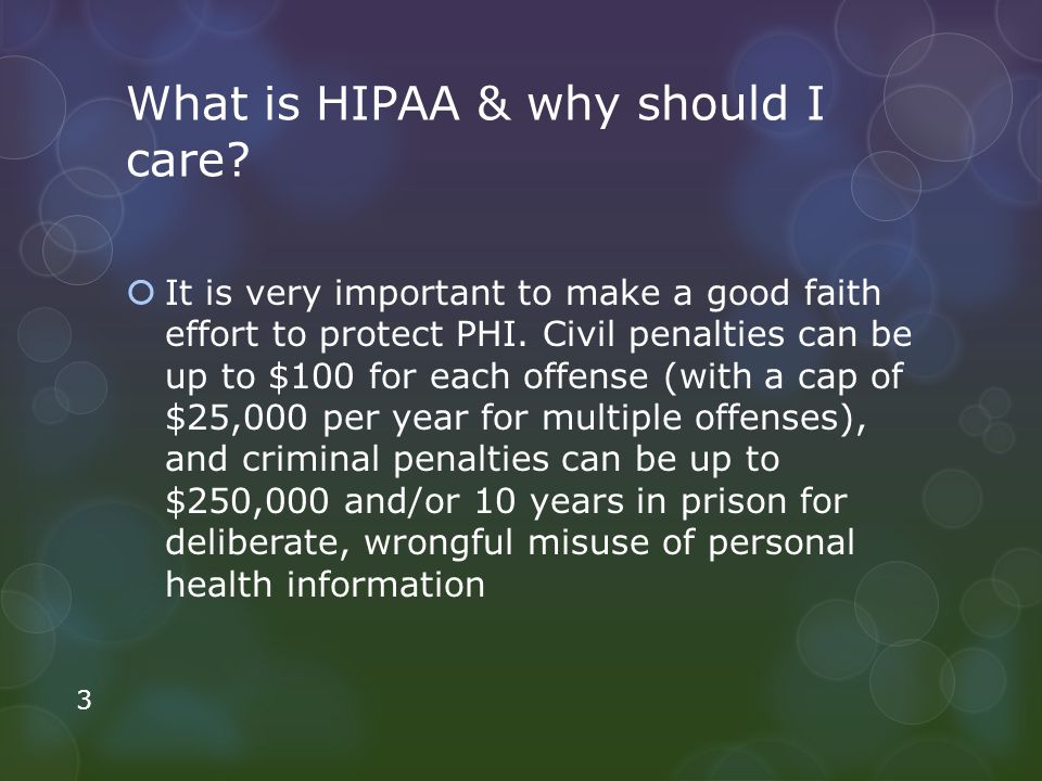 What is HIPAA & why should I care