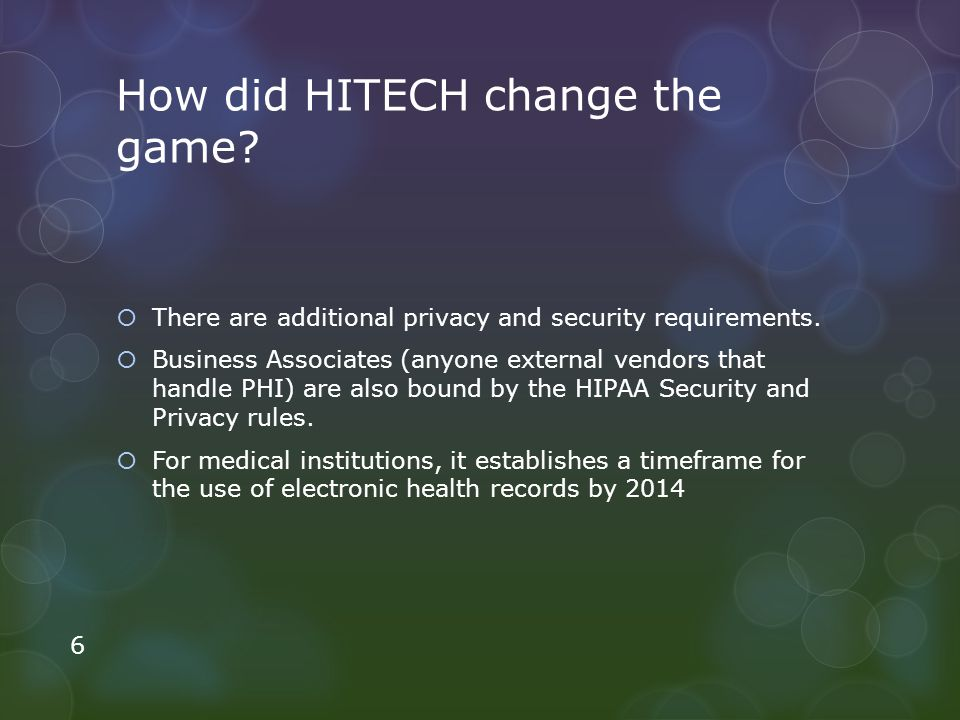 How did HITECH change the game