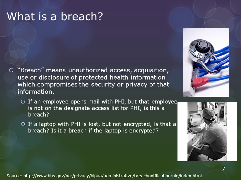 What is a breach