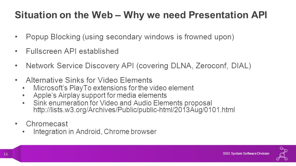 Situation on the Web – Why we need Presentation API