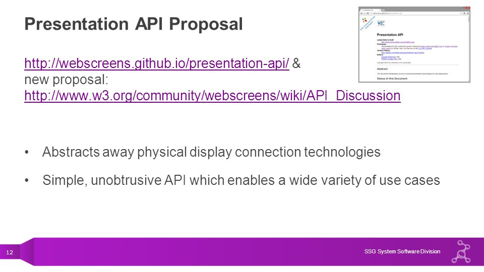 Presentation API Proposal