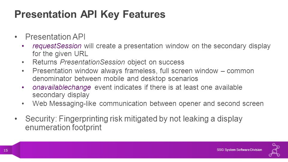 Presentation API Key Features