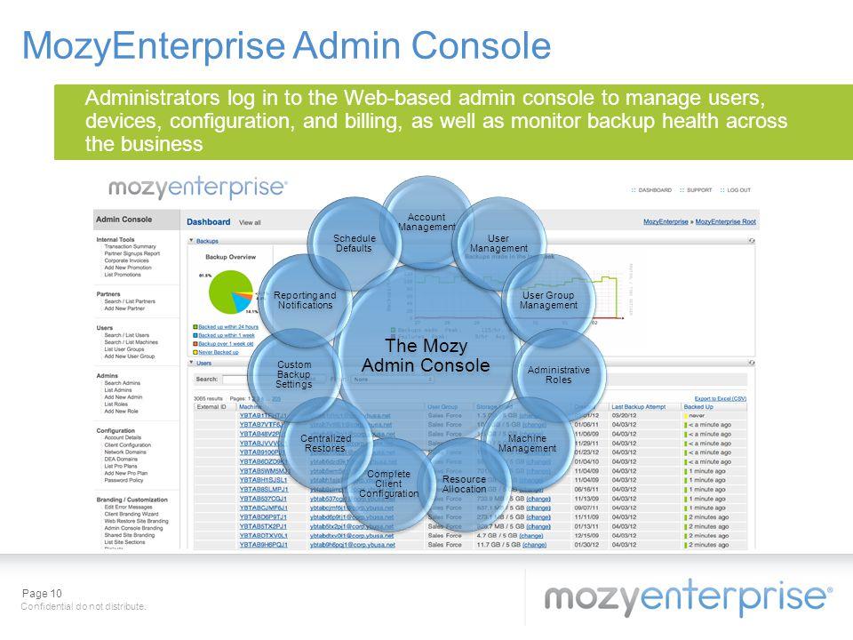 MozyEnterprise Admin Console