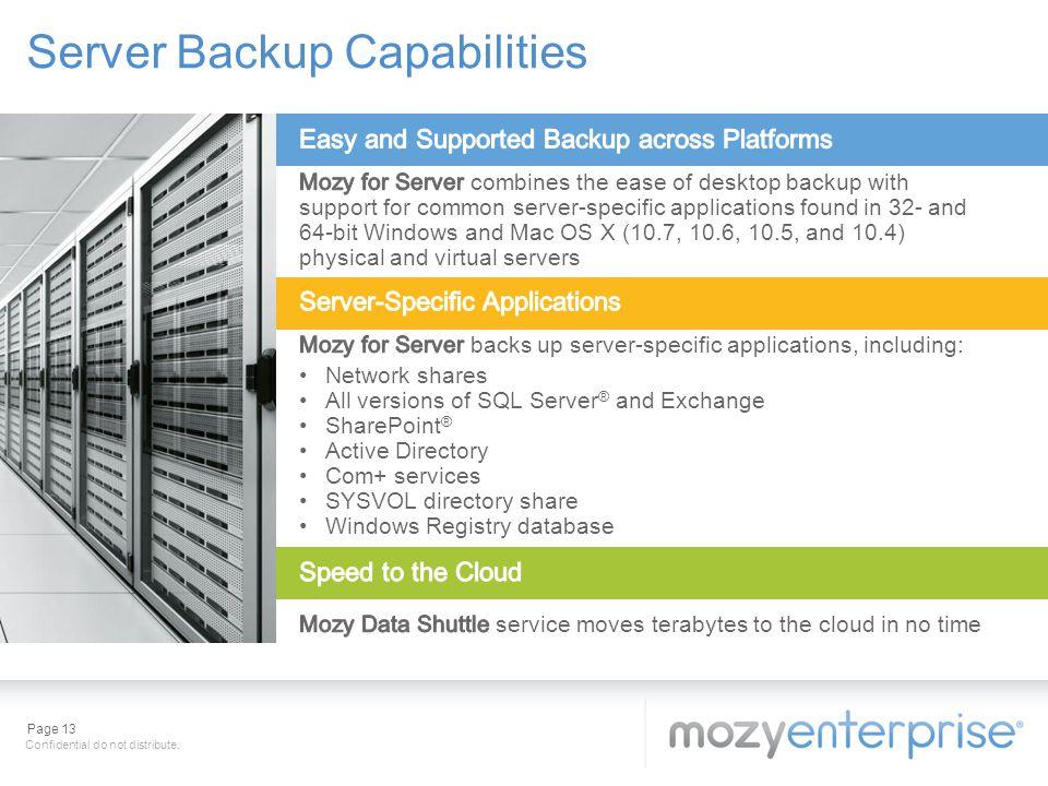 Server Backup Capabilities