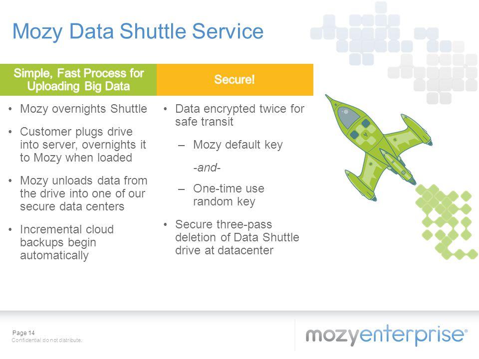 Mozy Data Shuttle Service
