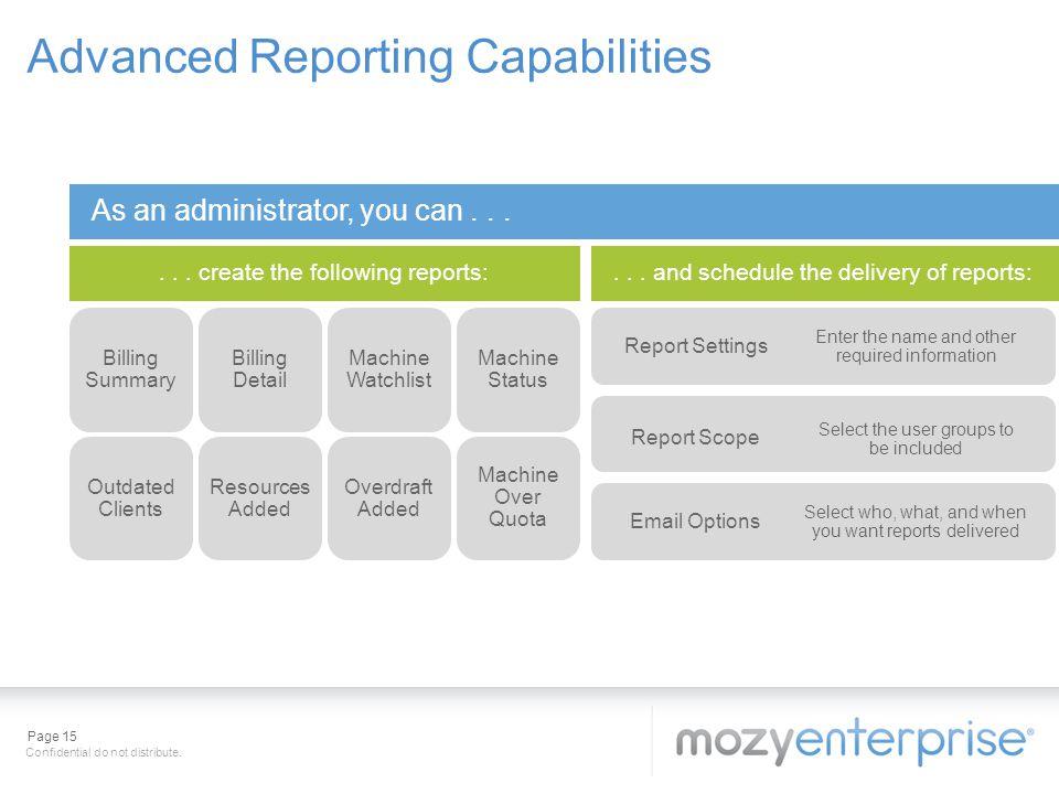 Advanced Reporting Capabilities