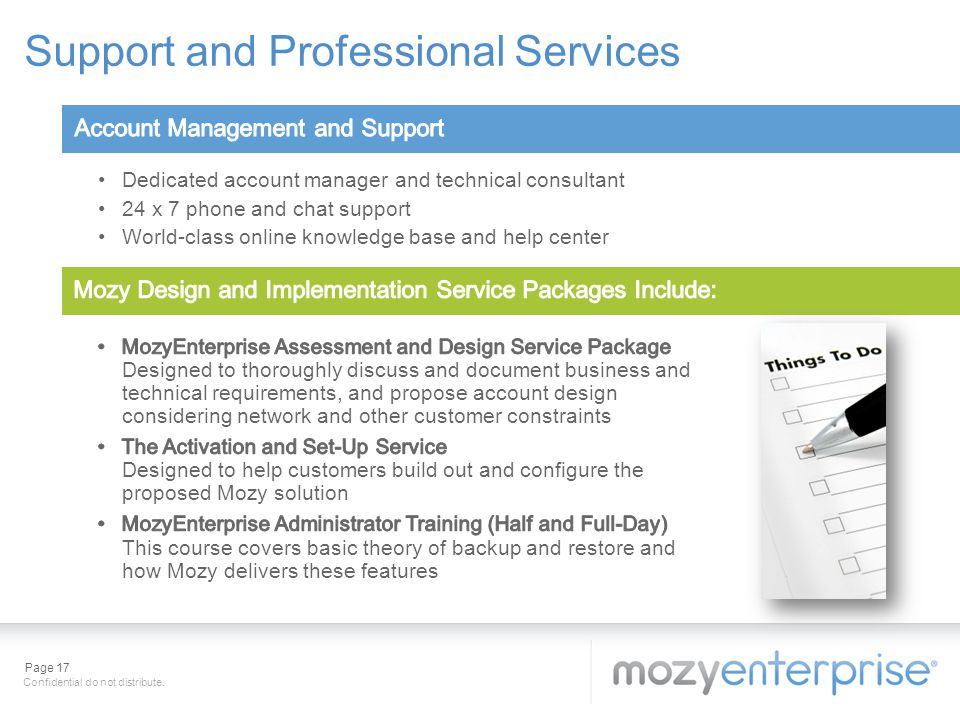 Support and Professional Services