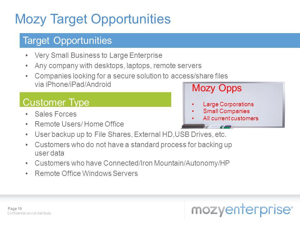 Mozy Target Opportunities
