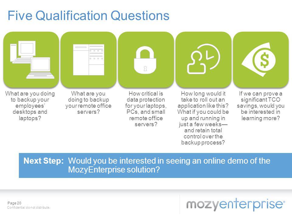 Five Qualification Questions