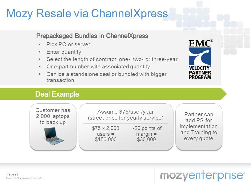 Mozy Resale via ChannelXpress